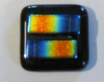 Human rights campaign symbol PIN  in rainbow  fusable glass  with a portion of all proceeds donated to Americans for Marriage Equality