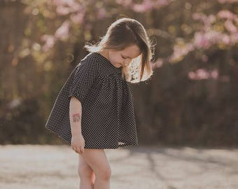 Azalea Boho Tunic Top Sewing Pattern, Sewing Pattern for girls, Sizes NB -14y
