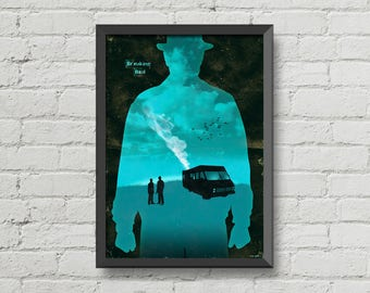 Breaking bad poster,breaking bad,heisenberg,poster,movie poster,digital print,print,art