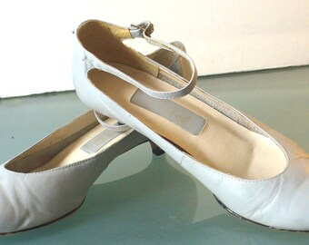 Powder Blue Kitten Heel Ankle Strap Shoes Size 7M