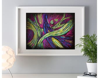 Abstract nature art - Abstract Green Art - Abstract painting -NATURAL FORMES - Gift for her -  Home Decor - Instant download