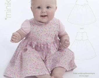 DRESS with GATHERED SKIRT - 10005 - Minikrea sewing pattern - 0-9 mo (4823.90.00.95)