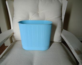 Vintage Rubbermaid Sky Blue Color Bath Wastebasket