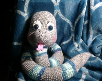 Crochet Snake any colors you want can be made to rattle