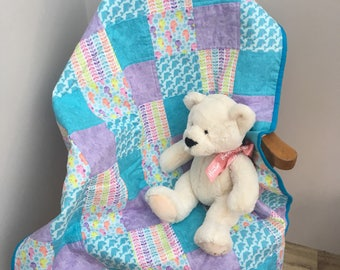 Baby Quilt, Patchwork Quilt, Cot Quilt, Car Seat Quilt, Stroller Quilt, Quilts for Sale, Baby Blanket, Baby Bedding, Baby Shower Gift