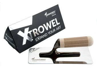 Marmorino Tools XTROWEL Innovative NEW Venetian Plaster Trowel - For White Plaster, Microcement and Resin