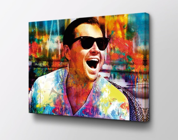 Laughing Leonardo Dicaprio Wolf Of Wall Street Canvas Art