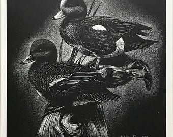 Robert Pow 'Teal Ducks' - Hand Signed Print - Canadian - Others Available - GallArt