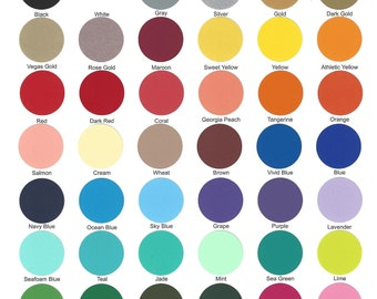 PerfecPress COLOR CHART HTV.  47 colors on this color chart.
