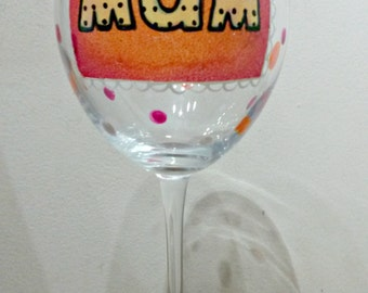 Mum/Mom/Nan Wine glass