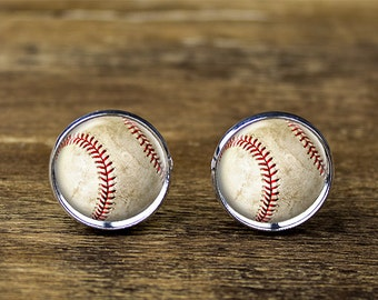 Baseball cufflinks, Baseball jewelry, Baseball accessories