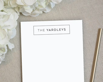 Personalized Notepad. Personalized Note Pad. Family Notepad. Professional Notepad. Personalized Stationery. Stationary. Corporate. Boxed.