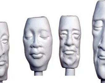 Moldb - Four Bead Face Molds, Plus 7 Texture Designs by Maureen Carlson