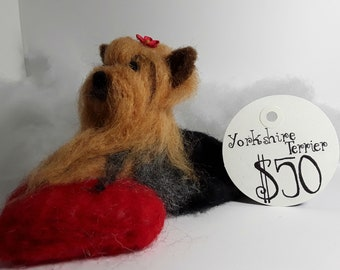 Felted Wool Yorkshire Terrier