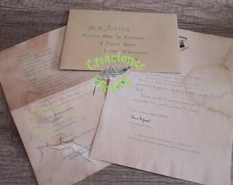 Simple Letter Harry Potter; Letter Hogwarts acceptance letter;