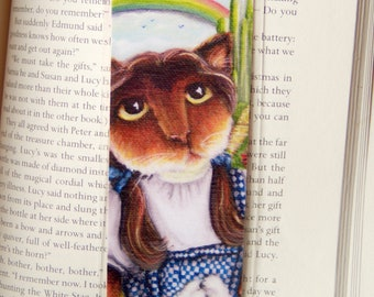 Dorothy Cat Bookmark Calico Cat Wizard of Oz Inspired Cat Bookmark