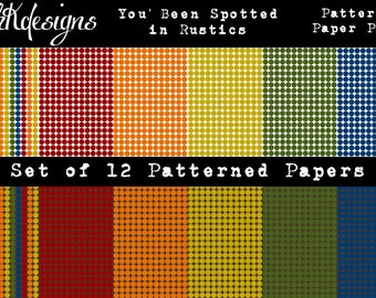 You've Been Spotted In Rustics Patterned Paper Pack