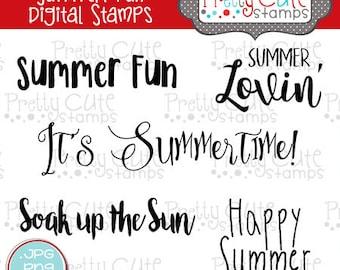 Summer Fun DIGITAL Stamp Set