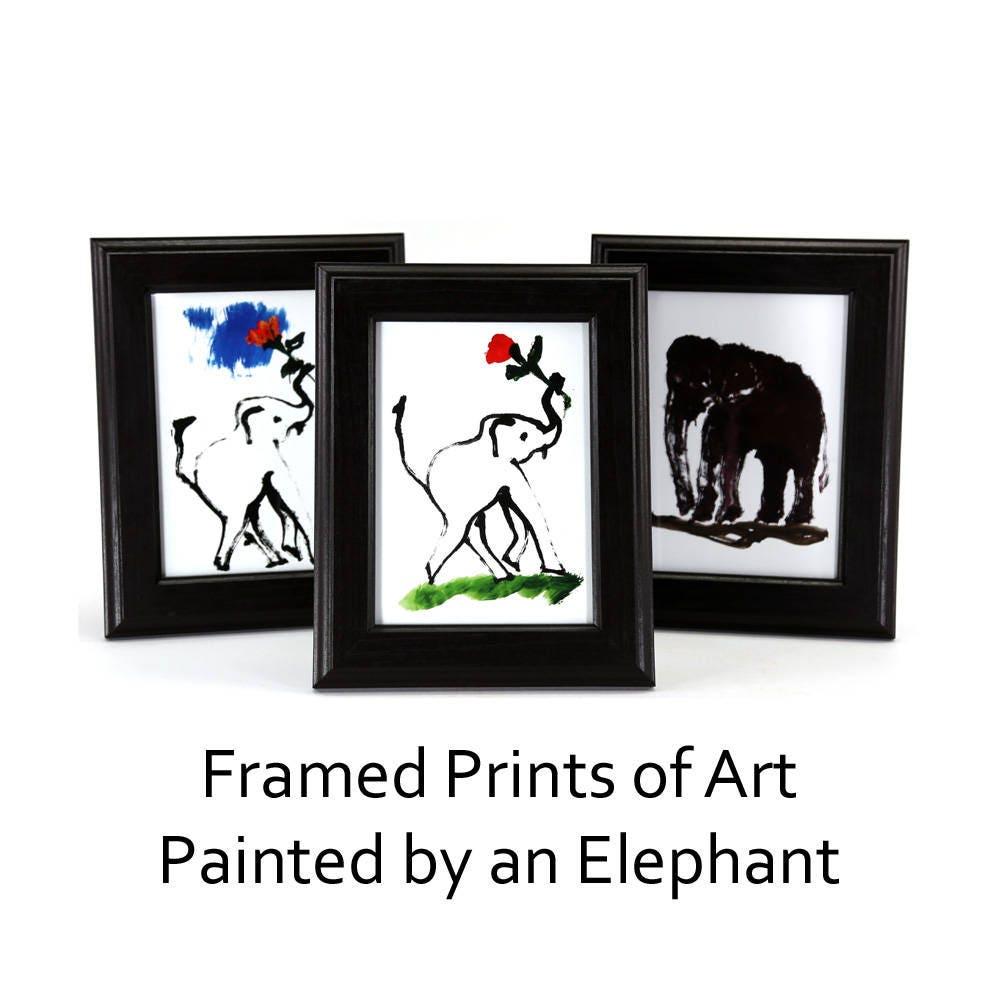Original elephant painting print Original elephant art print