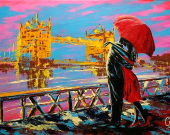 "Lovers In London 12x16"" Art Print"
