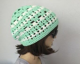 Womens Summer Croshet Hat Womens Summer Slouchy Beanie Women Spring Hat Summer Fashion