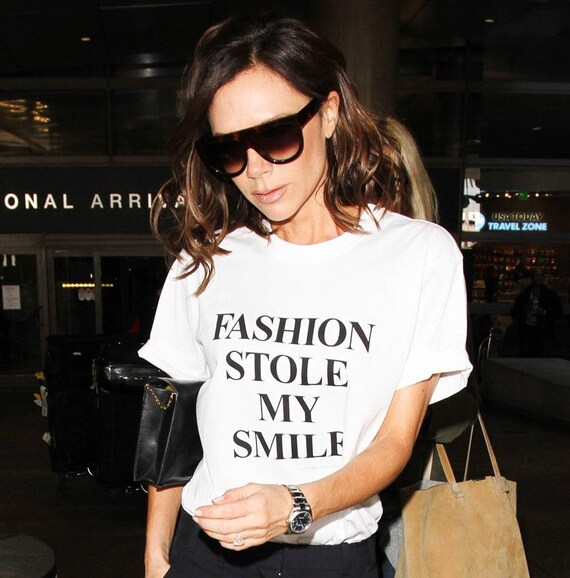 Fashion Stole My Smile Ladies T Shirt by Etsy