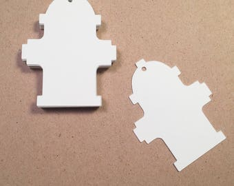Die Cut, Hang Tags, Fire Hydrant White Blank Tags, Gift Tag, Retail Tag, 110 lb Card Stock #CP-1209