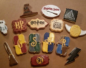 Set of 15 Harry Potter cookies
