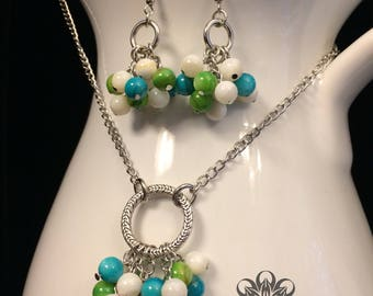 Retro Glamour Necklace and Earrings
