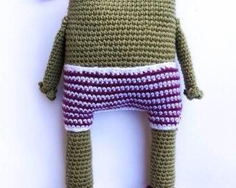 Animal crochet Amigurumi frog frog gift Baby cuddle Schnuffeltier Plush toy