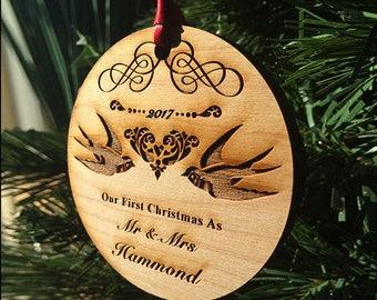 Babys first christmas, Custom christmas ornament, christmas ornament, personalized ornament, our fist christmas ornament // SKU#59A