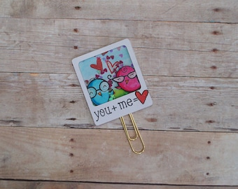 Love Birds Planner Clip, Planner Clips, Nerdy Love Birds, Shaker Planner Clips, Shaker Clips, Bookmark, Nerdy Birds, Stationery