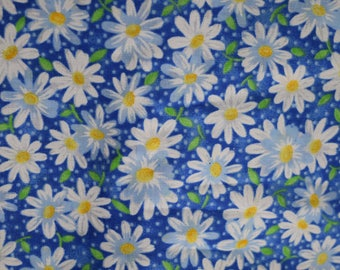Packed Daisies on Blue