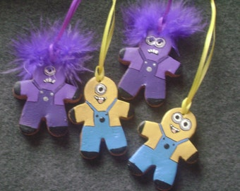 Minion Ornament ~ baked clay gingerbread