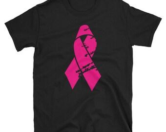 Distressed Pink Ribbon T Shirt
