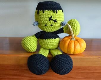 Frankenstein Crochet Pattern. Halloween Crochet Pattern. Frankenstein Amigurumi Pattern. Frankenstein Downloadable PDF Crochet Pattern.