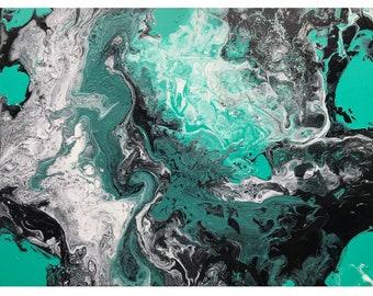 Original acrylic painting, fluid art, abstract art, abstract painting, fluid painting, acrylic pour / pouring, flow art original artwork