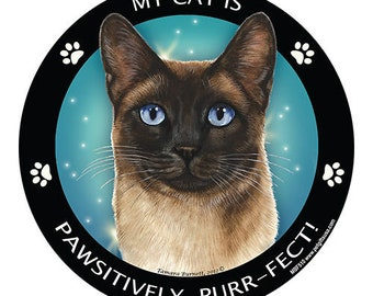 Seal Point Siamese Cat My Best Friend Dog Magnet