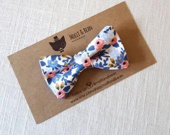 Boys Floral Bow Tie, Toddler Floral Bow Tie, Baby Floral Bow Tie, Blue Floral Bow Tie, blue Floral Bow Tie, Men's BowTie, Easter Bow Tie
