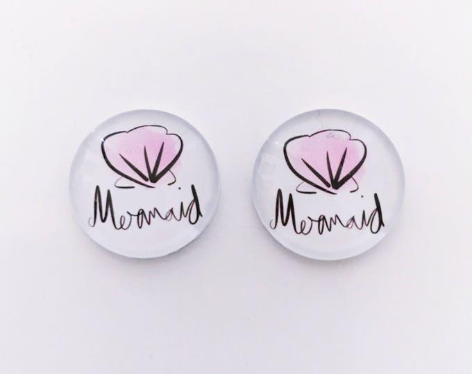 The 'Mermaid' Glass Earring Studs