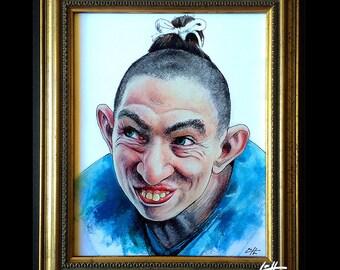 Pepper - Original Drawing - American Horror Story Freak Show Naomi Grossman Twisty Lobster Boy Circus Dark Art Pop Lowbrow Schlitzie Pinhead