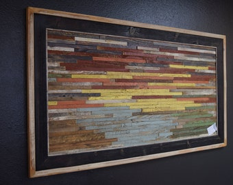 Handcrafted Wood Art made from Reclaimed Wood- Beside Still Water