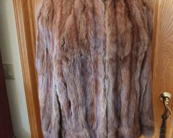 Vintage mink cape winter wedding cape