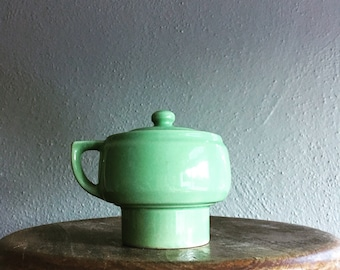 Vintage green cup strainer