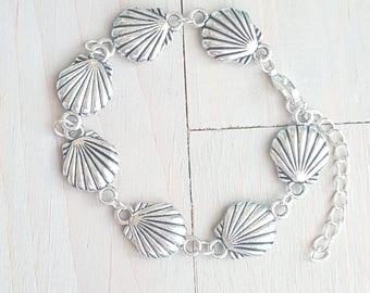 Shell Bracelet, Wedding Jewelry, Beach Wedding, Beach Jewelry, Shell Bracelet