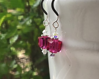 Fuchsia Dangle Earrings
