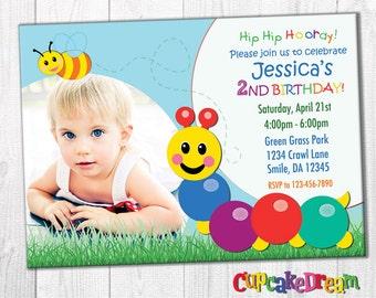 Baby Einstein Birthday Invitation, Caterpillar Birthday Party