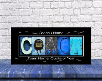 Gift for Swimming Coach - Swim Coach Gift - Swimming Gifts - Swimming Print - Swim Team Gift - Personalized Coach Gift, Senior gift for Swim