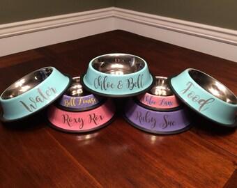 Pet Bowls Personalized // Dog Bowls // Cat Bowls // Personalized Dog Bowls // Personalized Cat Bowls // Food Bowl