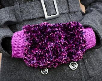 Fuzzy Hand Warmer Crochet Pattern PDF